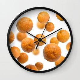 Oranges flying Wall Clock