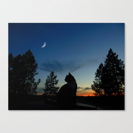 Warrior Cats - Silhouette Canvas Print