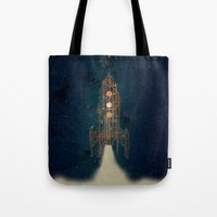 rocket Tote Bags featuring ROCKET by ARCHIGRAF