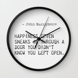 John Barrymore quote Wall Clock