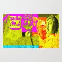 nutella Area & Throw Rugs featuring Mountain Rushmore  by Latidra Washington
