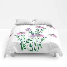 Purple Coneflower Comforters