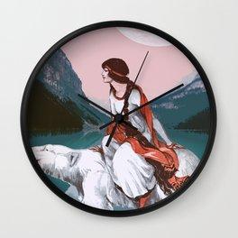 Travel Woman Wall Clock