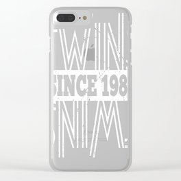 Twins-Since-1983---34th-Birthday-Gifts Clear iPhone Case