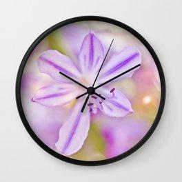 Summer dance - macro  floral photography Wall Clock