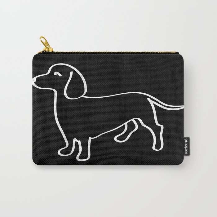 Doxie Love White Carry-All Pouch