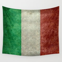 Italian flag, vintage retro style Wall Tapestry