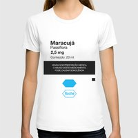 posters T-shirts featuring Kitchen Posters - Rivotril/Maracuja by mvaladao