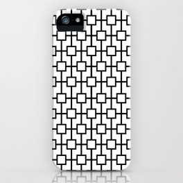 Black and White Lattice Pattern Design iPhone Case