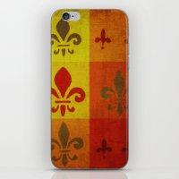 fleur de lis iPhone & iPod Skins featuring Fleur de lis #3 by Camille
