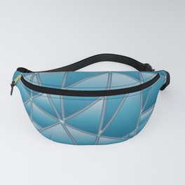 'Quilted' Geometric in blue Fanny Pack