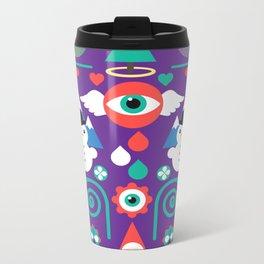 Christmas - purple pop Metal Travel Mug