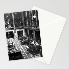 A Book Lover's Dream - Cast-iron Book Alcoves of Old Cincinnati Public Library No. 6 photograph Stationery Cards