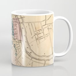 Vintage Map of New Brunswick NJ (1872) Coffee Mug