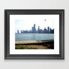 Chicago Across From Lake Michigan Shores Framed Art Print