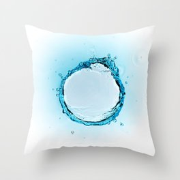 Water Splash 2 Throw Pillow