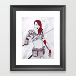 Samurai Knox Framed Art Print