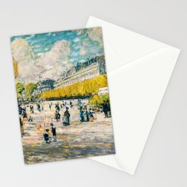 Classical Masterpiece 'Palace of the Tuileries on the Seine River, Paris' by Frederick Childe Hassam Stationery Cards