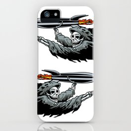 Grim Reaper launching missile. iPhone Case