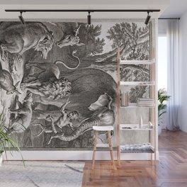 Le lion s'en allant en guerre Wall Mural
