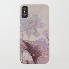 pastel waterlily iPhone Case