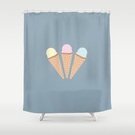3 Flavors Shower Curtain