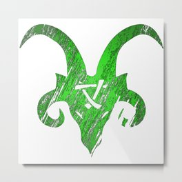 Green Horned Skaven Metal Print