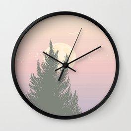 Evening Moonrise Wall Clock