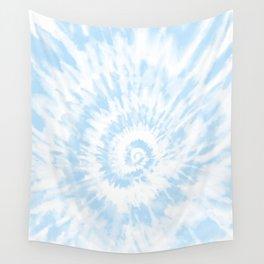 Lighter Ocean Blue Tie Dye Wall Tapestry