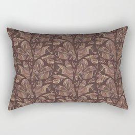 Deep Brown Woven Heart Stripes, Elegant Love Rectangular Pillow
