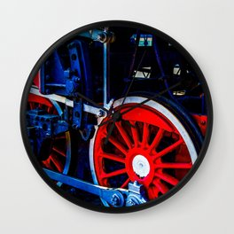 Vintage Steam Engine Locomotive Wheels And Rods Wall Clock