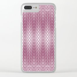 Icy Pink Frosted Geometric Relief Design Clear iPhone Case