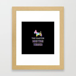 Scottish Terrier gifts | Easter gifts | Easter decorations | Easter Bunny | Spring decor Framed Art Print