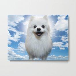 Gabe the Dog - Bork in Heaven Metal Print