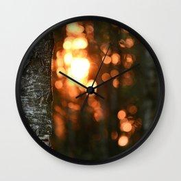 Sunset in Drawsko 5 Wall Clock