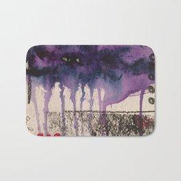 Purple Rain, original artwork by Stacey Brown Bath Mat