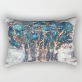 Faded Semi-Abstract Trees Rectangular Pillow