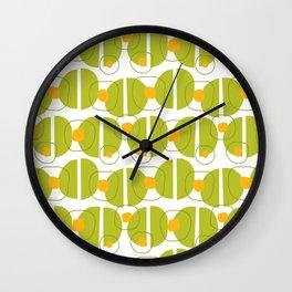 Green blob - Fabric pattern Wall Clock