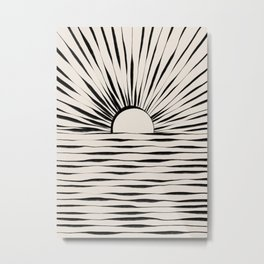 Minimal Sunrise / Sunset Metal Print