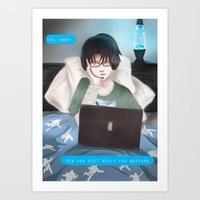 levi Art Prints featuring Levi  by shiio