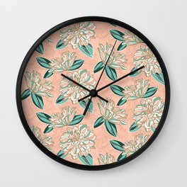 Dahlia -muted colors Wall Clock