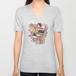 Cuddle All Of The Rats Unisex V-Neck