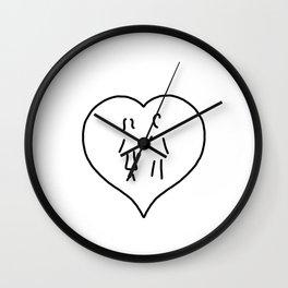 huglovers married couple wedding Wall Clock