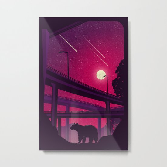 Over Passed Metal Print