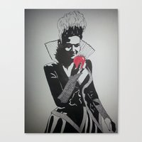 evil queen Canvas Prints featuring Evil Queen by badashh