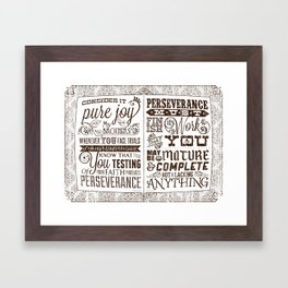 James 1:2-4 Framed Art Print