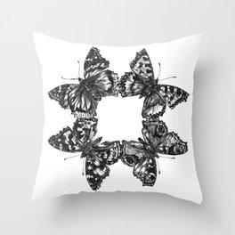 Butterfly Symmetry Throw Pillow