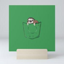 Sloth in a pocket Mini Art Print