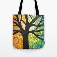 Stencil Tree Canvas Tote Bag