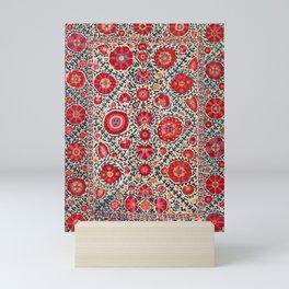 Kermina Suzani Uzbekistan Embroidery Print Mini Art Print